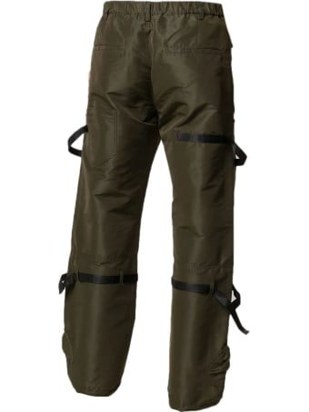 N.21 Dark Green Cargo Trousers