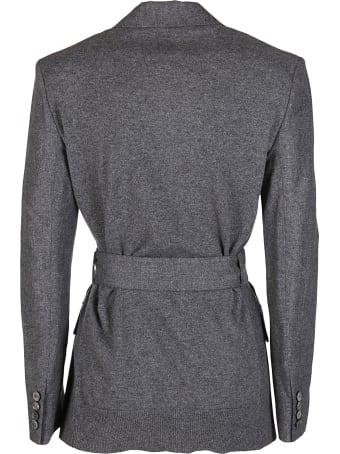 Agnona Grey Cashmere-wool Blend Blazer