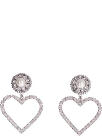 Alessandra Rich Faba Embellished Maxi-earrings