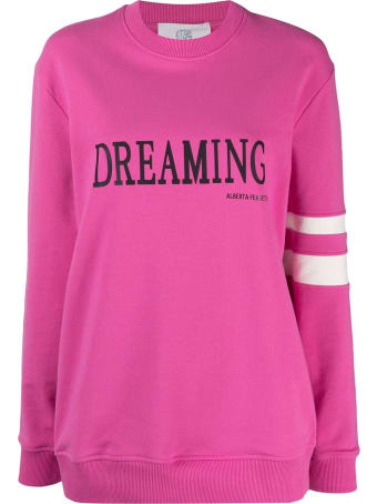 Alberta Ferretti Fucsia Stretch-cotton Sweatshirt