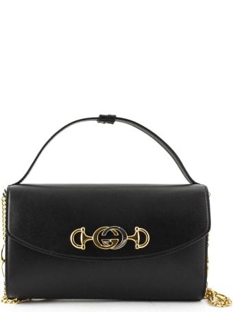 Gucci Gucci Zumi Black Leather Shoulder Bag
