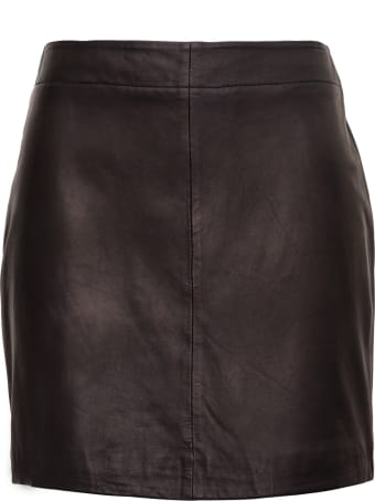 Parosh Leather Skirt