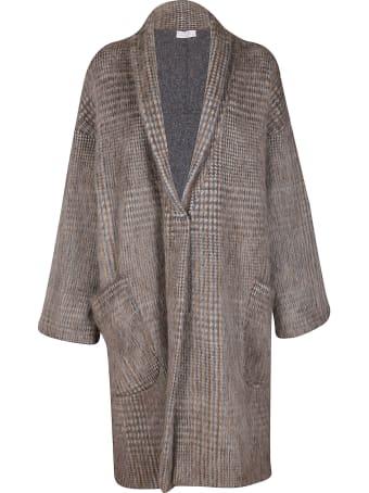 Brunello Cucinelli Brown Merino-virgin Wool Blend Cardigan