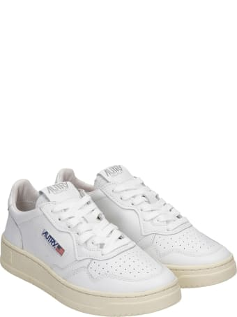 Autry 01 Sneakers In White Leather