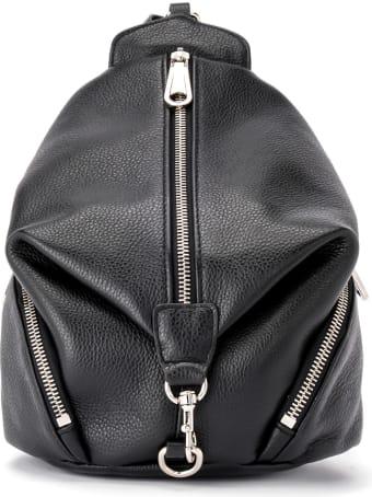 Rebecca Minkoff Mini Julian Backpack In Black Leather