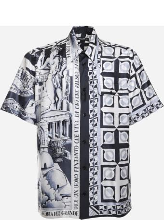 Dolce & Gabbana Shirt In Silk With Majolica Print