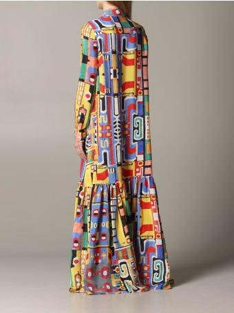 Stella Jean Dress Stella Jean Long  Dress In Printed Silk