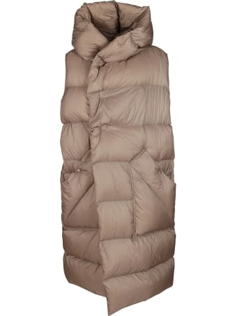Rick Owens Brown Down Jacket