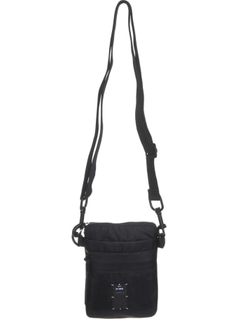 McQ Alexander McQueen Man Waist Bag In Black Fabric With Logo