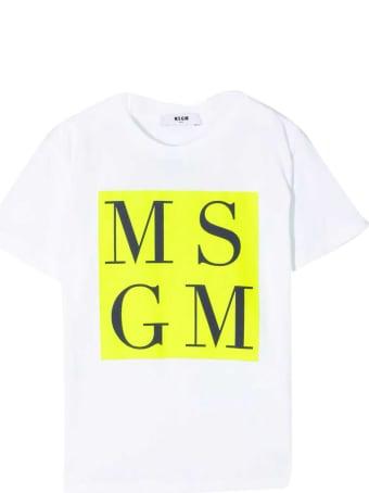 MSGM White Teen T-shirt