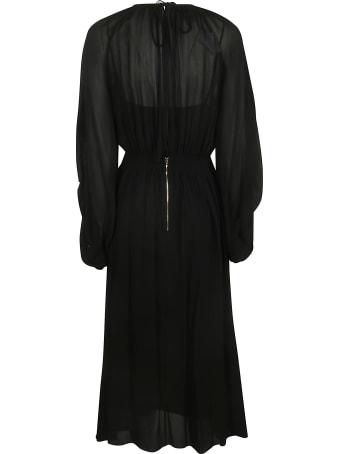 Rochas Long Oversized Pleated Dress
