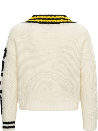 RED Valentino Wool Jacquard V Neck Pull