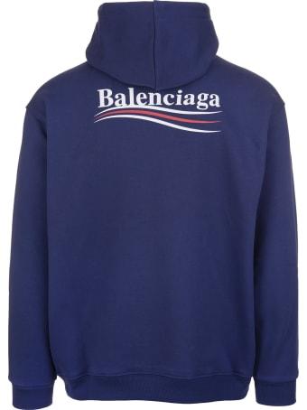 Balenciaga Man Blue Political Campaign Hoodie