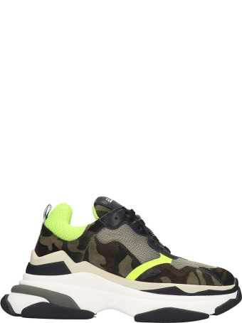 Elena Iachi Sneakers In Camouflage Tech/synthetic