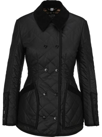 Burberry London Diamond Quilted Waxed Cotton Jacket