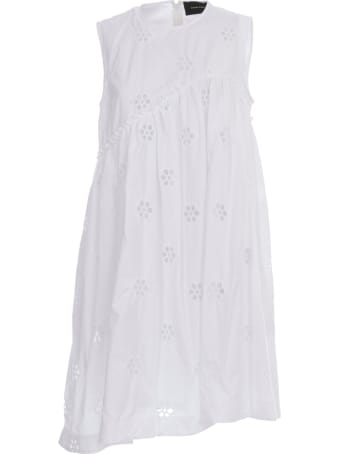Simone Rocha Sleeveless Asymmetric Babydoll Dress