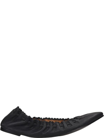 See by Chloé Ballet Flats In Black Leather