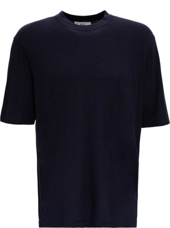 Ami Alexandre Mattiussi Blue Cotton Blend T-shirt