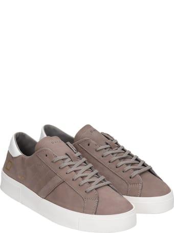 D.A.T.E. Hill Low  Sneakers In Beige Suede