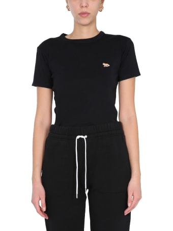 Maison Kitsuné T-shirt With Fox Patch