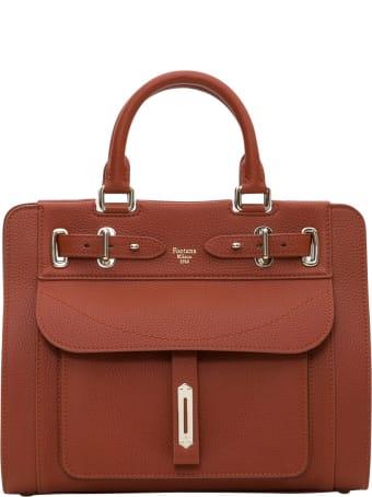 Fontana Milano 1915 A-lady Handbag With Double Handles In Togo