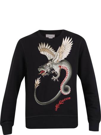 Alexander McQueen Embroidered Cotton Sweatshirt