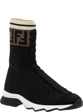 Fendi Rococo Socks Sneaker With Ff Band