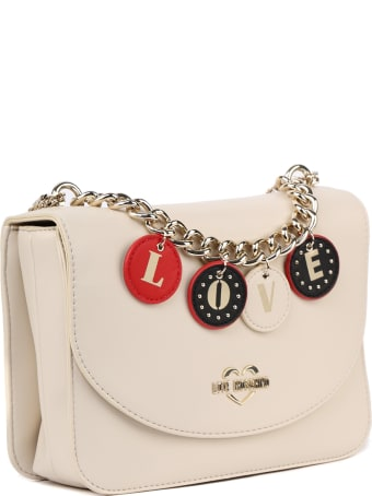 Love Moschino Lovely Charm Faux Leather Shoulder Bag