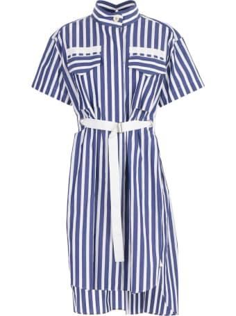Sacai Striped Belted Shirt Dress