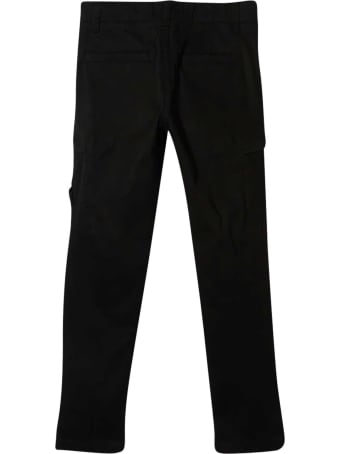 Stone Island Junior Stone Island Black Trousers