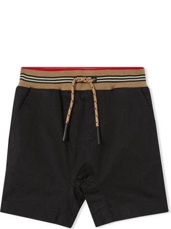Burberry Black Cotton Twill Shorts