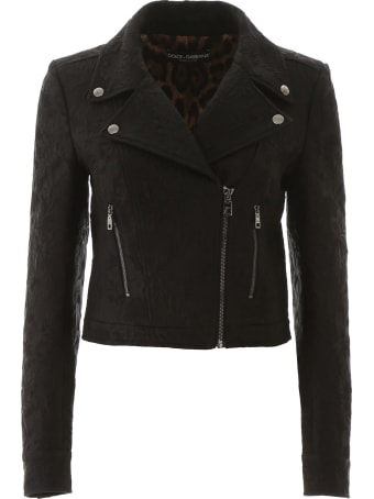 Dolce & Gabbana Jacquard Biker Jacket