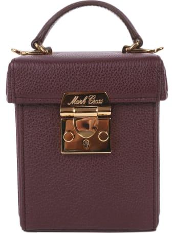 Mark Cross Plum Gace Cube Mini Bag