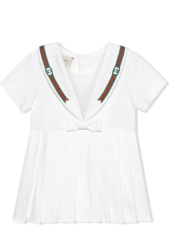 Gucci White Stretch-cotton Dress