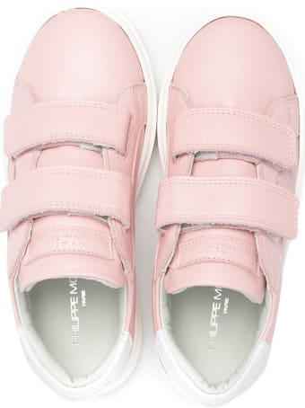 Philippe Model Temple Sneakers In Pink Leather