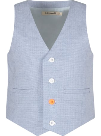 Billybandit Light Blue Vest For Boy