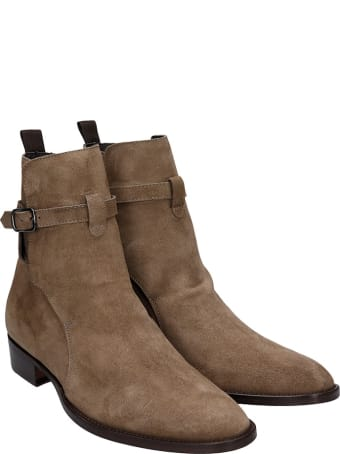 Marc Ellis Ankle Boots In Taupe Suede