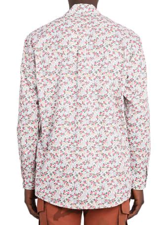 Marine Serre White Bedsheet Shirt