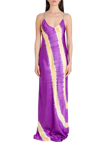 Palm Angels Tie-dye Printed Slip Dress