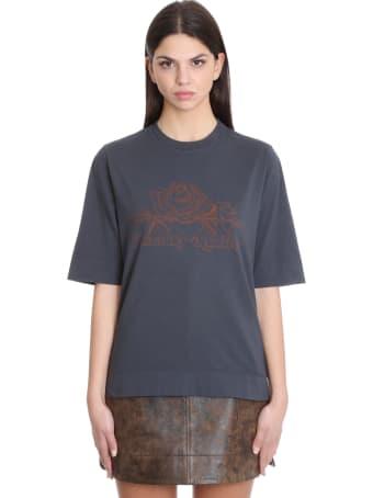 Ganni T-shirt In Black Cotton