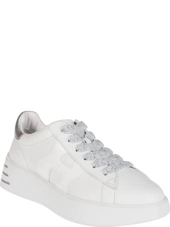 Hogan White Leather Rebel Sneakers