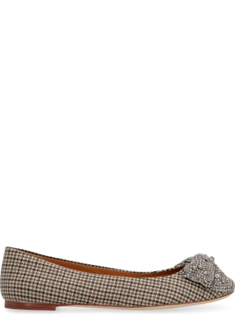 Tory Burch Embellished Bow Ballet Flats
