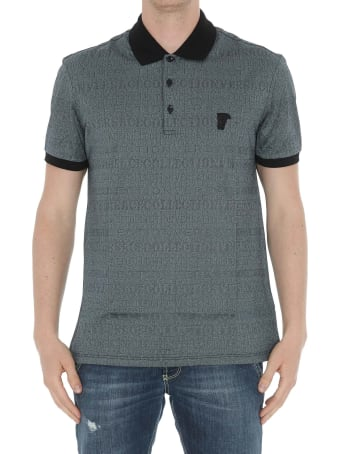 Versace Collection All Over Logo With Medusa Detail Polo
