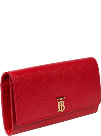 Burberry Logo Plaque Continental Wallet