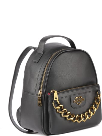 Love Moschino Love Moschino Black Faux Leather Backpack