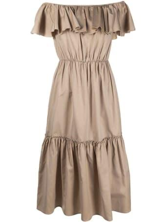 Federica Tosi Beige Cotton-silk Blend Dress