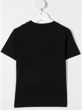 Moncler Kid Black T-shirt With Micro Logo On The Chest
