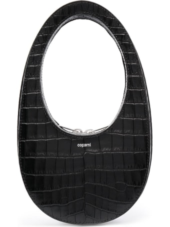Coperni Swipe Handbag In Crocodile Print Leather