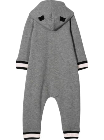 Moncler Grey Romper With Hood