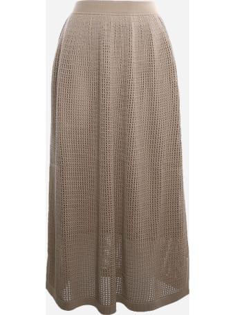 Loro Piana Midi Skirt Made Of Silk And Cotton Knit